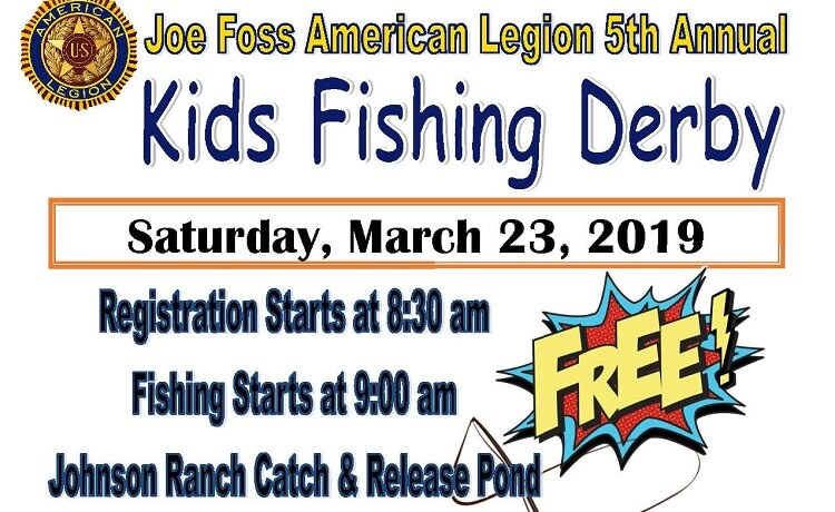 Joe Foss American Legion to Host 5th Annual Youth Fishing Derby