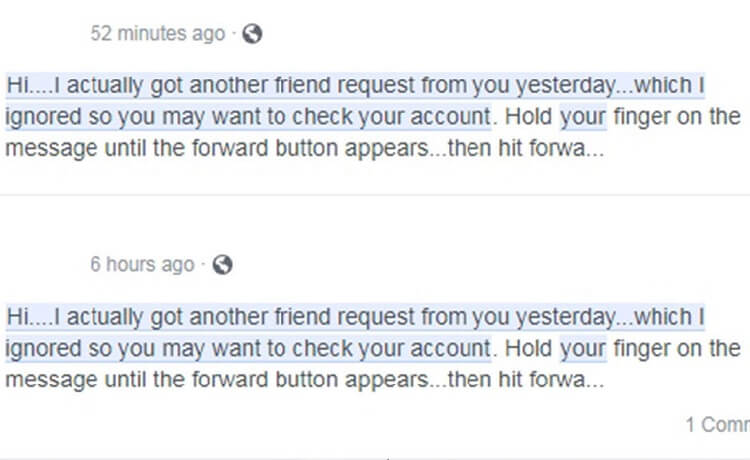 Facebook scam messages: Officials warn of hoax