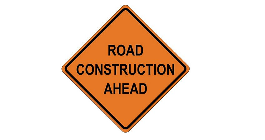 Roadwork on Hunt Highway and Attaway Road Intersection