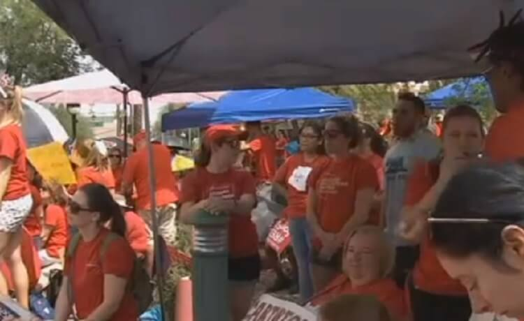 Teachers protest following AZ Supreme Court ruling to throw Invest in Education measure off November ballot